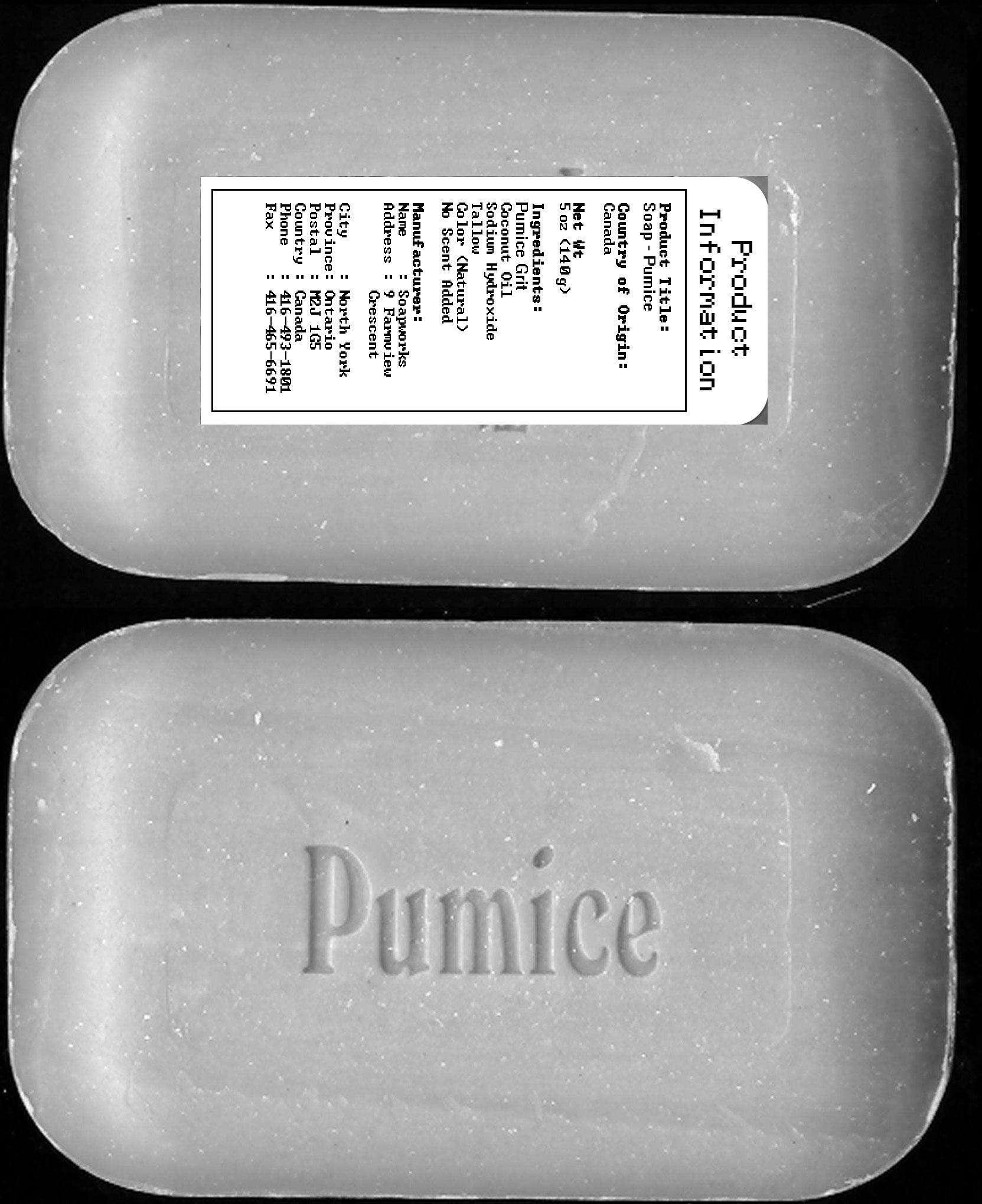Pumice Soap - Label