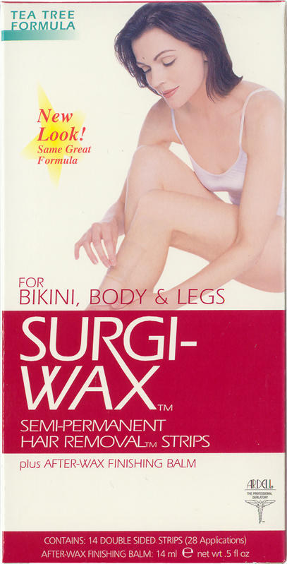 Surgi-Wax - Bikini, Body and Legs (Tea Tree Formula) - 14 Strips with Finishing Balm