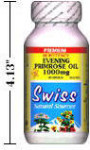 Evening Primrose Oil Premium - Hi Potency - 1000 mg - Cold Pressed