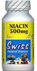 Niacin (B3) - 500 mg - Yeast-Free