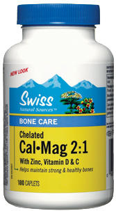 Cal-Mag - Zinc, Vitamins C and D - 2:1 Ratio - HVP Chelated - From Oyster Shell