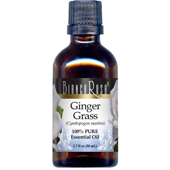 Ginger Grass Pure Essential Oil - Label