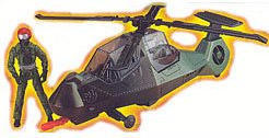 Jurassic Park III - Electronic Air Heli-Sabre Marine Comance with figure