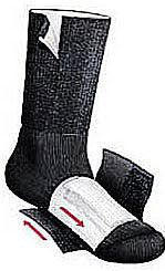 TheraSock Double Sock System - Crew Socks - Small - Black