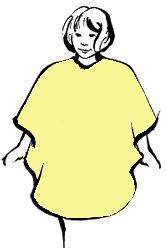 Kiddie Haircut Cape - Yellow