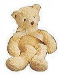 "Tibbie Bear - Cream - 7"" - Luv Pets Collection"