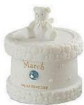 Monthly Trinket Box - March - Aquamarine