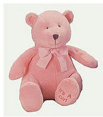 Brahms Baby Rattle Bear - Pink