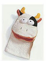 Bath Puppet - Terrycloth - Cow - 9 3/4""