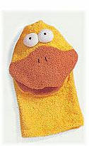 "Bath Puppet - Terrycloth - Duck - 9 3/4"""