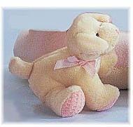 """Li'l Pups - Squeaker Puppy - White/Pink - 5"""""""