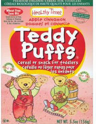 Wheat Free Cereal Snack - Teddy Puffs Apple Cinnamon