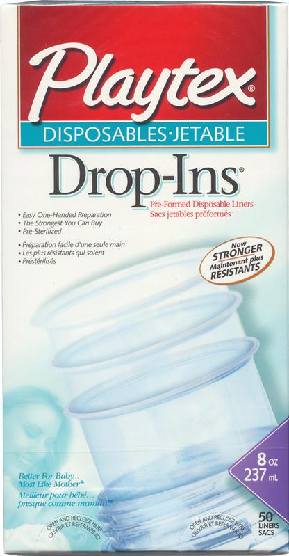 Drop-Ins Bottle Liners - For Disposable Bottles - Set of 50