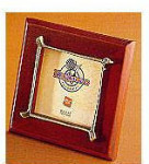 Pewter Accented Wooden Frame - Golf Club