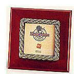 Brass Accented Wooden Frame - Rope