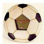 Recaptured Goals: Soccer Ball Shaped Photo Frame
