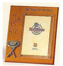 Wooden Plaque Frame - The Thrill of the Grill