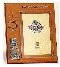 Wooden Plaque Frame - King of the Remote