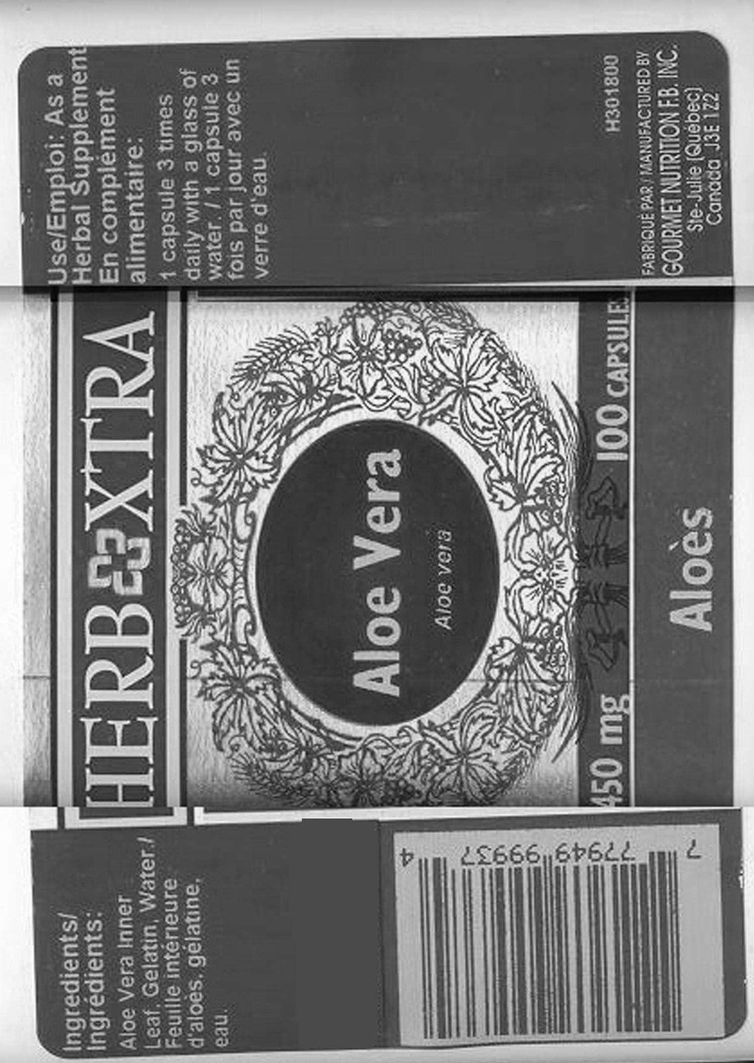 Aloe Vera - 450 mg - Label