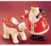 Santa and Bear - Salt and Pepper Shakers