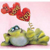 Toadily Yours Frog Figurines - SculptStone - I Love You