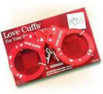 "Love Cuffs - Plastic Handcuffs with Message - ""Love Cuffs"""