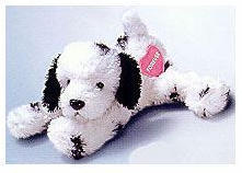 """Flopples - Beanbag with Heart Message - Punch - Dog (7.5"""")"""