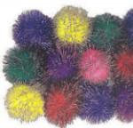 Glitter Pom Pom - Big - Package of 40
