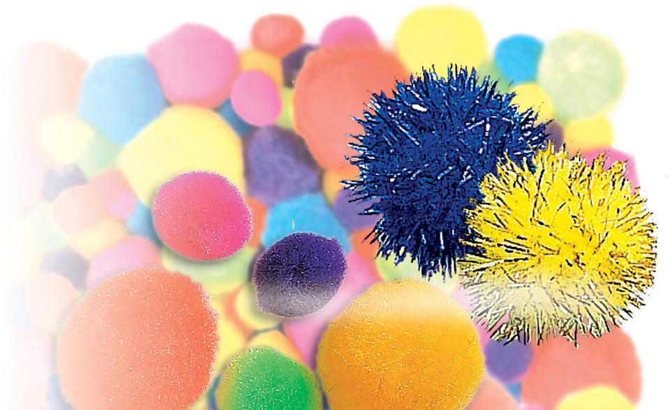 Glitter Pom Pom - Big - Package of 40 - Additional View