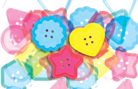 Clear Color Big Buttons - Package of 30 - Additional View