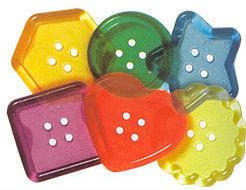 Clear Color Big Buttons - Package of 30
