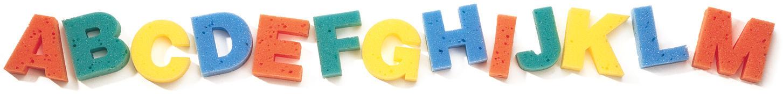 Capital Letter Sponges - 26 sponges