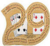 2 Track Cribbage Board - 29 Wood
