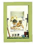 Wooden Decorated Shadowbox Frame - Green
