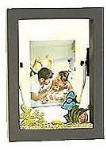 Wooden Decorated Shadowbox Frame - Black