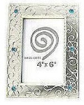 """Antique Silver Alloy Frame - Style 1 - 4 x 6"""""""