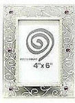 Antique Silver Alloy Frame - Style 2 - 4 x 6""