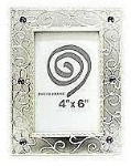 Antique Silver Alloy Frame - Style 4 - 4 x 6""