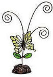 """Butterfly Picture Holder - Green - 7"""""""