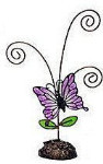 """Butterfly Picture Holder - Purple - 7"""""""