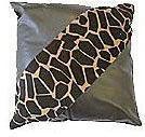 Giraffe Print Patent Leather Cushion - 45