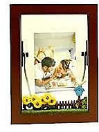 Wooden Decorated Shadowbox Frame - Brown