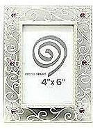 """Antique Silver Alloy Frame - Style 2 - 4 x 6"""""""