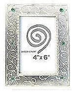 Antique Silver Alloy Frame - Style 3 - 4 x 6""