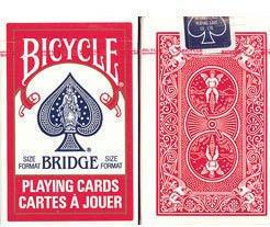 Bridge Playing Cards - Bicycle Brand - (Rider Back) - Red