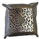 Leopard Print Patent Leather Cushion - Square