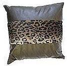Leopard Print Patent Leather Cushion - Stripe