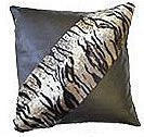 Tiger Print Patent Leather Cushion - 45