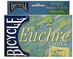 Euchre Playing Cards - Easy to Learn Strategy and Rules - 2 Decks - Bicycle Brand