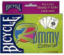 Rummy Playing Cards - Easy to Learn Strategy and Rules - 2 Decks - Bicycle Brand